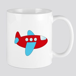 Red and Blue Airplane Mugs