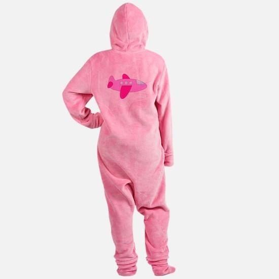 Pink Airplane Footed Pajamas