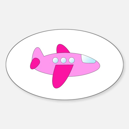 Pink Airplane Decal