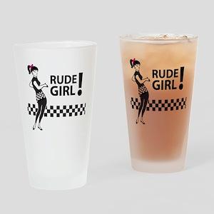 Ska RUDE GIRL Drinking Glass