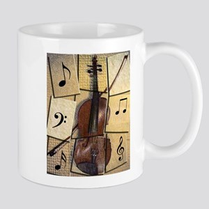 Cubist Violin Mugs