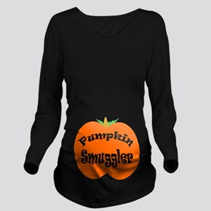 Pumpkin Smuggler Long Sleeve Maternity T-Shirt