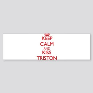 Keep Calm and Kiss Triston Bumper Sticker