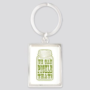 We Can Pickle That! Portrait Keychain