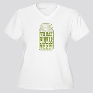 We Can Pickle Tha Women's Plus Size V-Neck T-Shirt