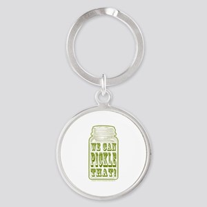 We Can Pickle That! Round Keychain