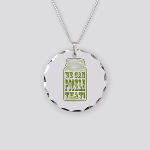 We Can Pickle That! Necklace Circle Charm