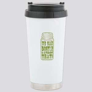 We Can Pickle That! Stainless Steel Travel Mug