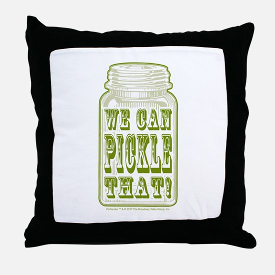 We Can Pickle That! Throw Pillow