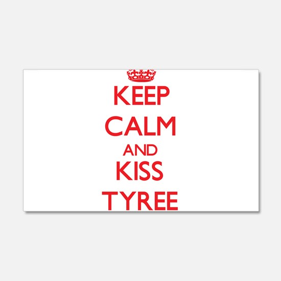 Keep Calm and Kiss Tyree Wall Decal