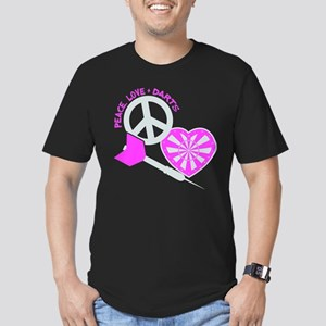 PEACE-LOVE-DARTS Men's Fitted T-Shirt (dark)