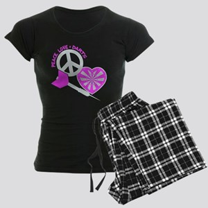 PEACE-LOVE-DARTS Women's Dark Pajamas