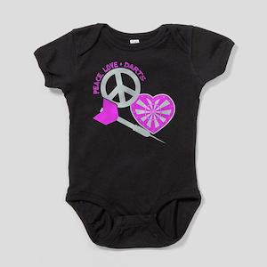 PEACE-LOVE-DARTS Baby Bodysuit