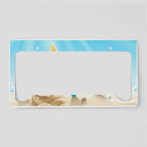 Summer Beach License Plate Holder