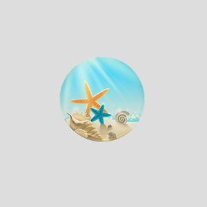 Summer Beach Mini Button