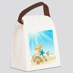 Summer Beach Canvas Lunch Bag