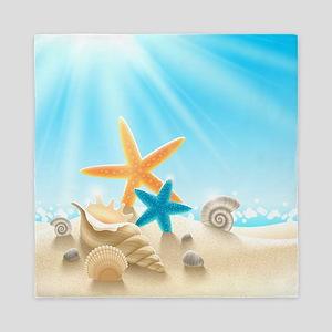 Summer Beach Queen Duvet