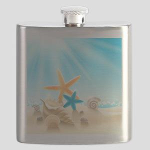 Summer Beach Flask