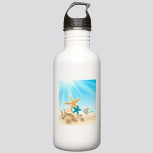 Summer Beach Water Bottle