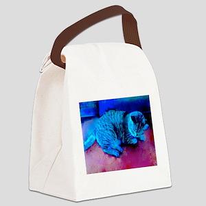 Cat Nap Canvas Lunch Bag