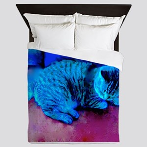 Cat Nap Queen Duvet