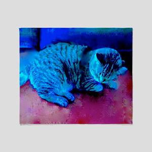Cat Nap Throw Blanket