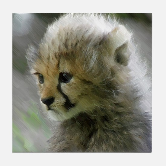 Cheetah 015 Tile Coaster