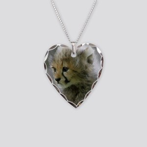 Cheetah 015 Necklace Heart Charm