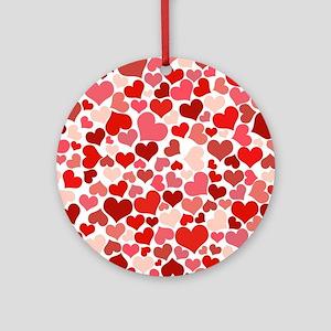 Heart 041 Round Ornament