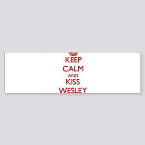 Keep Calm and Kiss Wesley Bumper Sticker