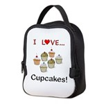 I Love Cupcakes Neoprene Lunch Bag