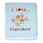 I Love Cupcakes baby blanket