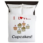 I Love Cupcakes Queen Duvet