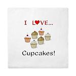 I Love Cupcakes Queen Duvet