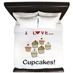I Love Cupcakes King Duvet