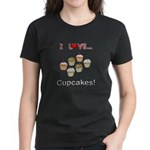 I Love Cupcakes Women's Dark T-Shirt