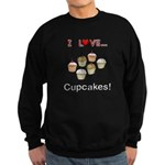 I Love Cupcakes Sweatshirt (dark)