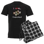 I Love Cupcakes Men's Dark Pajamas