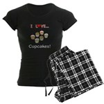 I Love Cupcakes Women's Dark Pajamas