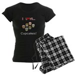 I Love Cupcakes Women's Dark Pajamas