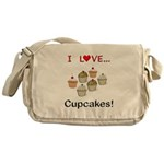 I Love Cupcakes Messenger Bag