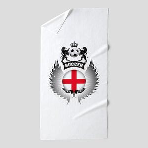 Soccer England Vintage Crest Beach Towel
