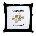 Cupcake Junkie Throw Pillow