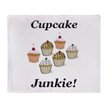 Cupcake Junkie Throw Blanket