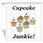 Cupcake Junkie Shower Curtain