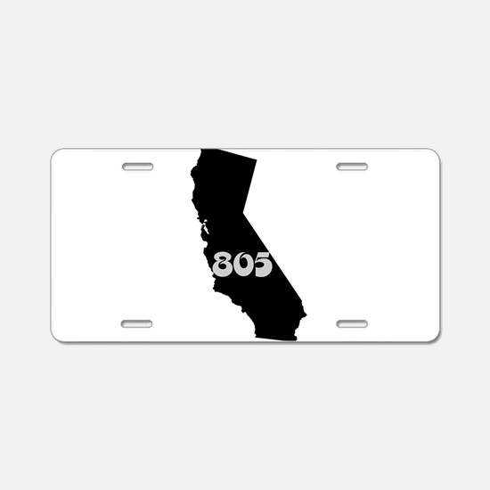 CALIFORNIA 805 [3 black/gray] Aluminum License Pla