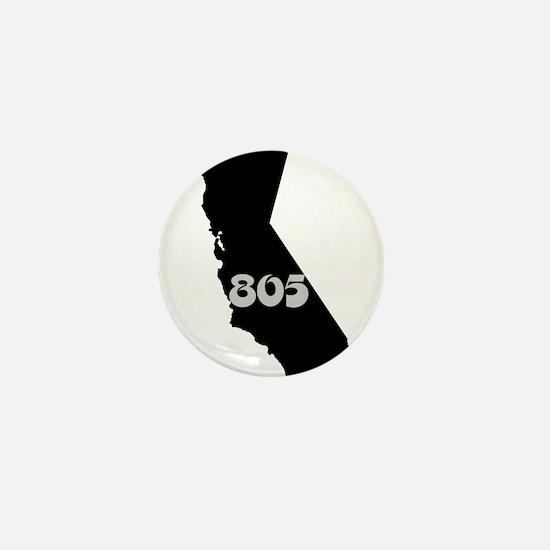 CALIFORNIA 805 [3 black/gray] Mini Button