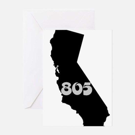CALIFORNIA 805 [3 black/gray] Greeting Cards