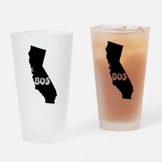 CALIFORNIA 805 [3 black/gray] Drinking Glass