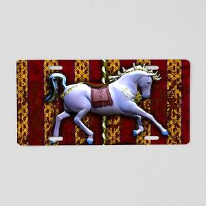 Carousel Horse Aluminum License Plate